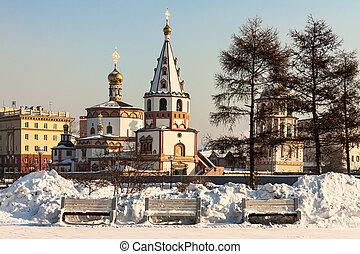 irkutsk., russie, orthodoxe, churches., sibérie