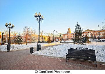 irkutsk, winter., russia.