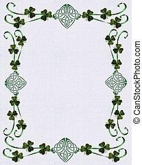 irländsk, gräns, keltisk, knyta, enhet