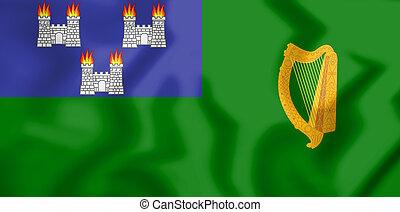 IRL_Dublin_flag - 3D Flag of Dublin, Ireland. 3D...