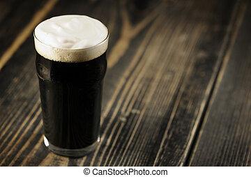 irlandés, cerveza, cerveza negra