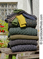 irlandés, tejer, invierno, cable, suéteres, calcetines, ...