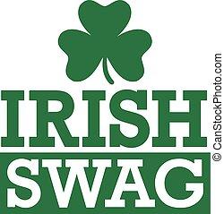 irlandais, rue., -, butin, patrick's, fête, jour