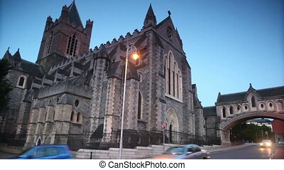 irlande, église, christ, dublin, cathédrale