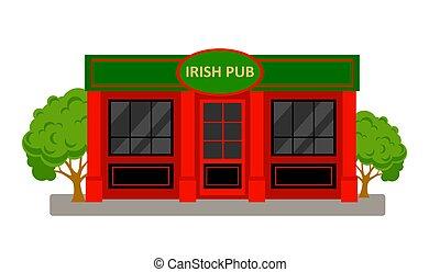 irlandese, pub, costruzione.