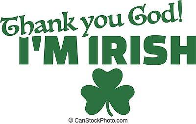 irlandese, ringraziare, dio, st., -, patrick's, sono, giorno