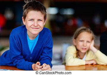 irmã, irmão, ao ar livre