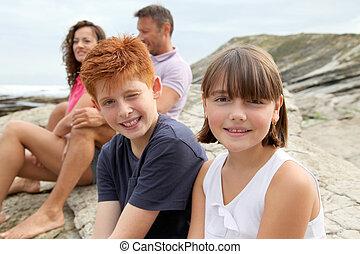 irmã, irmão, férias