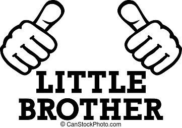 irmão pequeno, polegares