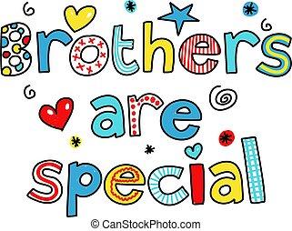 irmãos, é, especiais