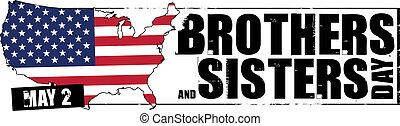 irmãs, irmãos, dia