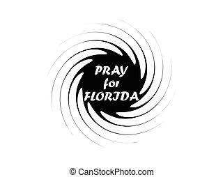 Irma hurricane symbol, natural disaster, tornado icon. Vector illustration