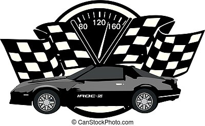 iroc-z, da corsa, emblema