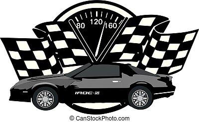 iroc-z, rennsport, emblem