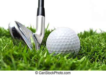 Iron and golf ball