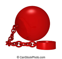 iron ball - one iron ball with chain and blank space for...