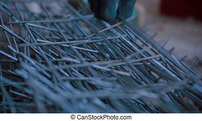 Iron bars for brickwork