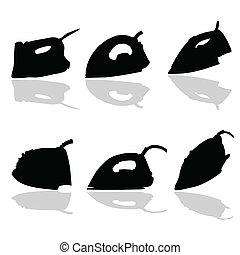 iron black vector silhouette