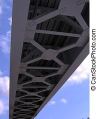Iron Bridge - -- beneath a blue sky, good perspective