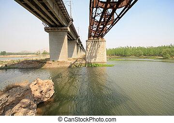 iron bridge across the river