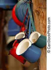 Iron coffee pot