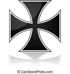 Iron cross - Glossy illustration showing an iron cross...