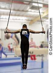 Iron cross - Gymnast competing on rings