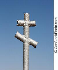 iron cross in the cemetery