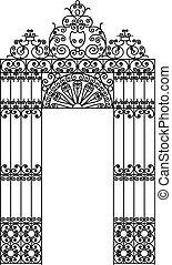 iron design frame