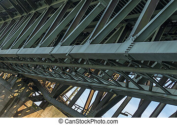 Iron framework of an Railroad bridge