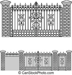 Iron gate doors and fences