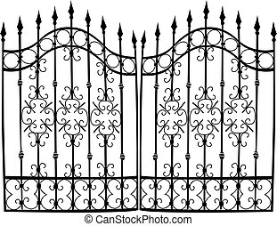 Iron gate full vector - Highly detail vectorized iron gate,...