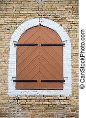 Iron Hinges on Wood Shutters