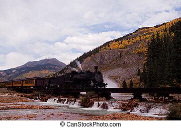 Iron Horse #486 - Steam locomotive engine. This train is in...