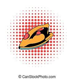 Iron icon, comics style