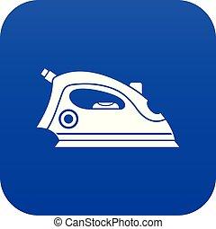 Iron icon digital blue