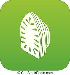 Iron icon green vector