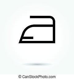 iron icon, modern design web element on white background. logo