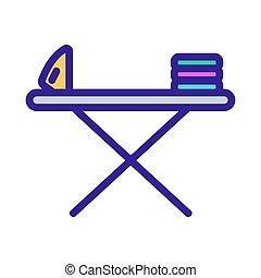 Iron icon vector. Thin line sign. Isolated contour symbol illustration