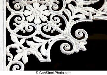 Iron Lattice Decoration - Vintage iron lattice art work in...
