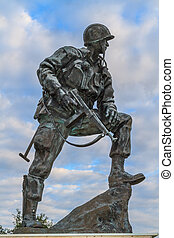 Iron Mike Statue in Normandy, France - Iron Mike Statue ...