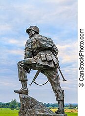 Iron Mike Statue in Normandy, France