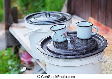 iron mugs
