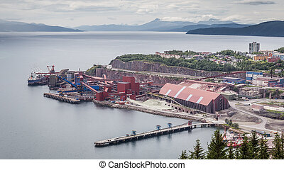 Iron Ore Mine Factory Plant in Narvik Norway