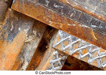 Iron rusty background