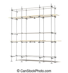 Iron scaffold isolated on a white background. 3d render