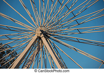 Iron spins of a giant wheel, ferris
