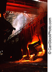 Steel industry - Iron Steel industry on a background of...