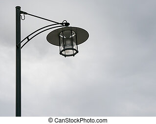 Iron street lamp in the city