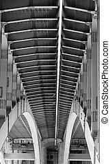Iron structure bridge